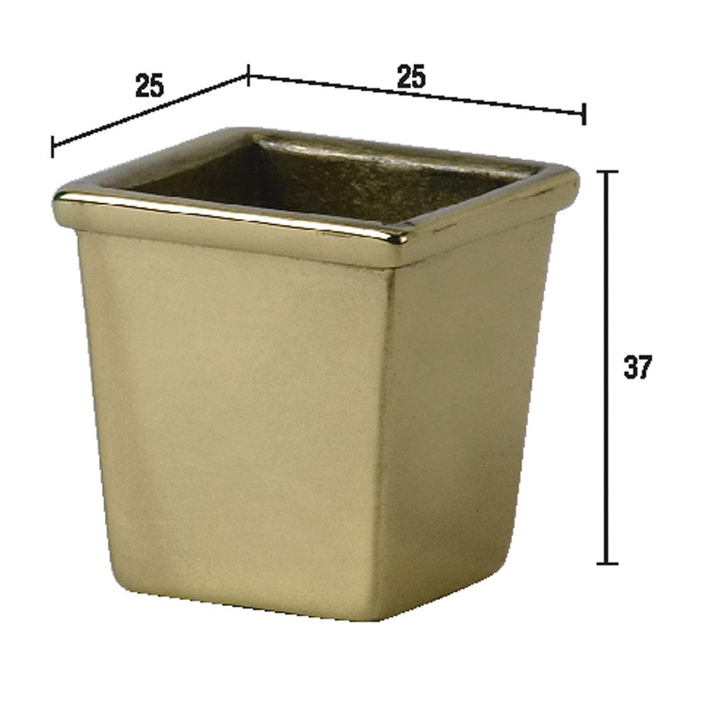 4. Наконечник квадратный для мебельной опоры, латунь.