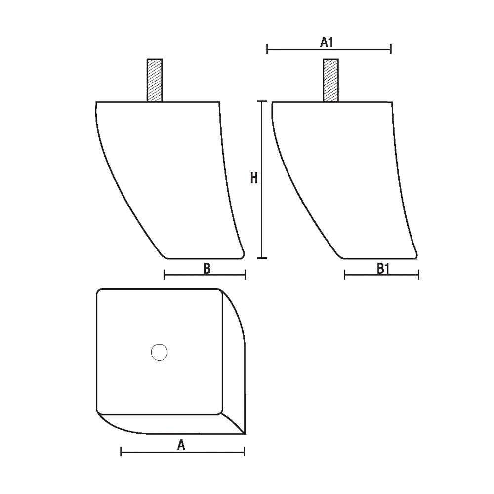 0133 Опора мебельная из массива бука id=5191