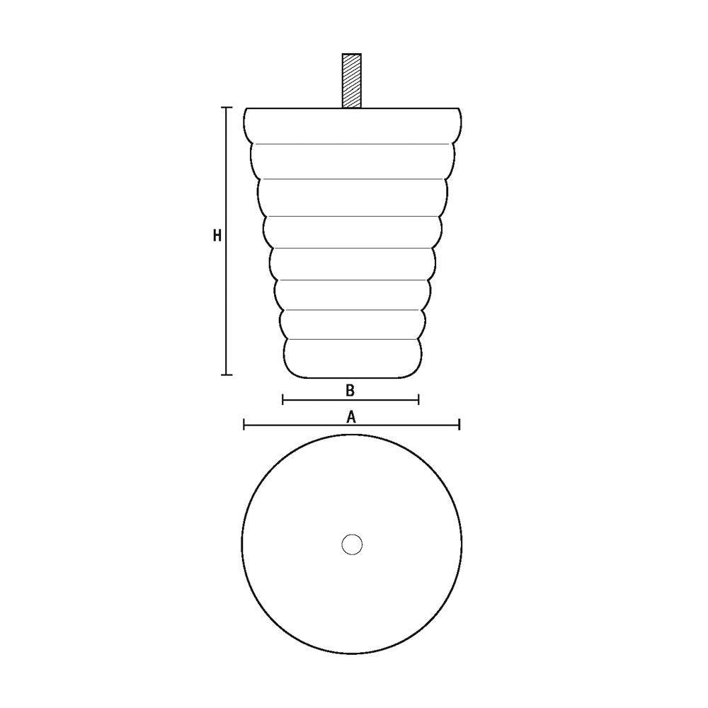 0187 Опора мебельная из массива бука id=5244