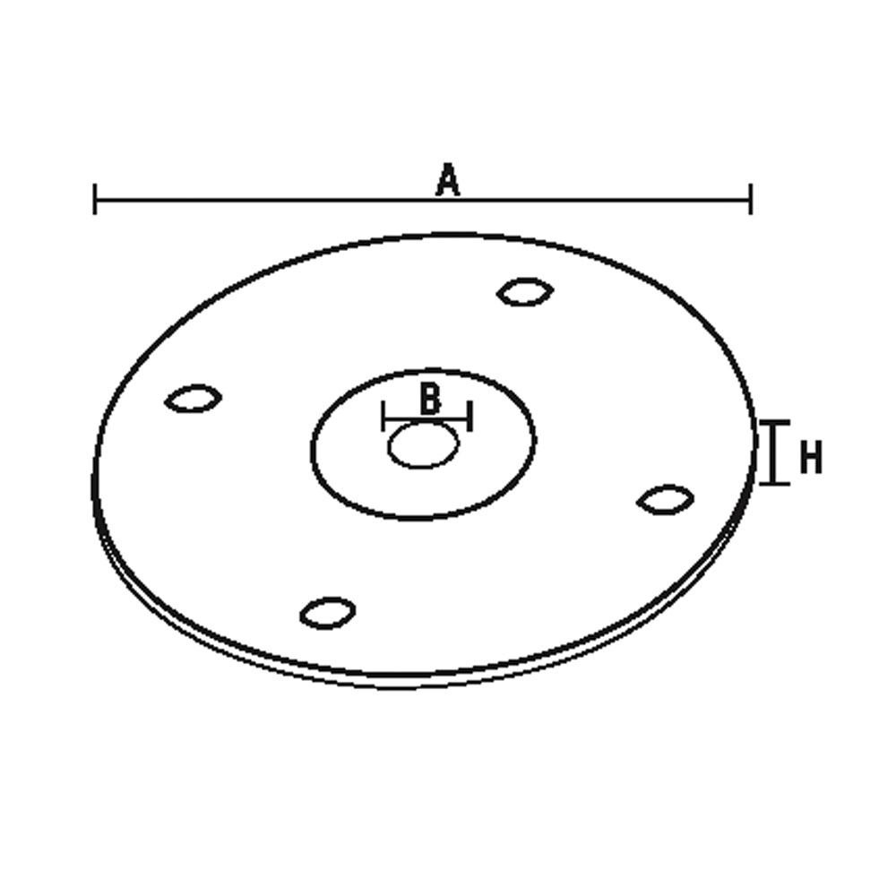 1014. Монтажная основа для мебельной опоры. id=5501