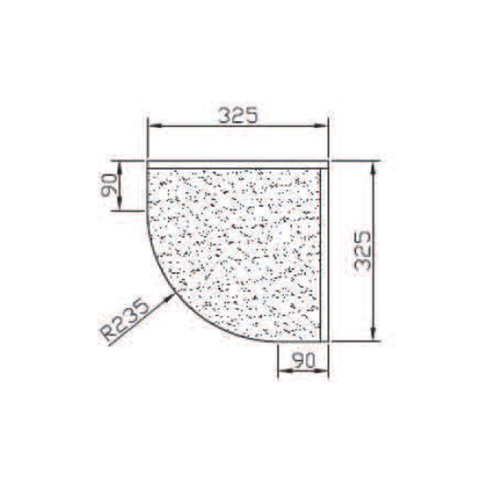 Карниз 6011, R235, гнутый верхний, массив Абаши. id=5604