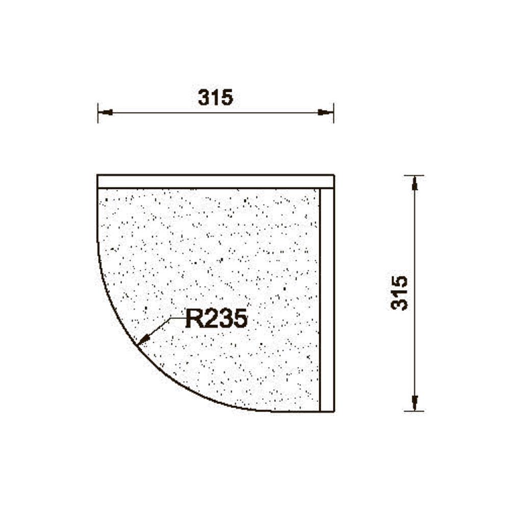 Карниз MS-3 нижний, гнутый R-235. id=5661