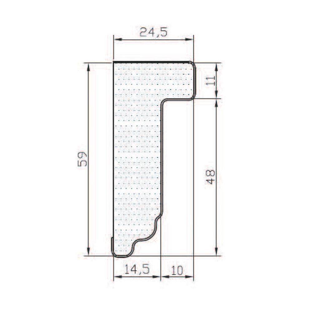 Карниз КЛАССИКА прямой, нижний. МДФ в шпоне, грунт-покрытие. id=5596
