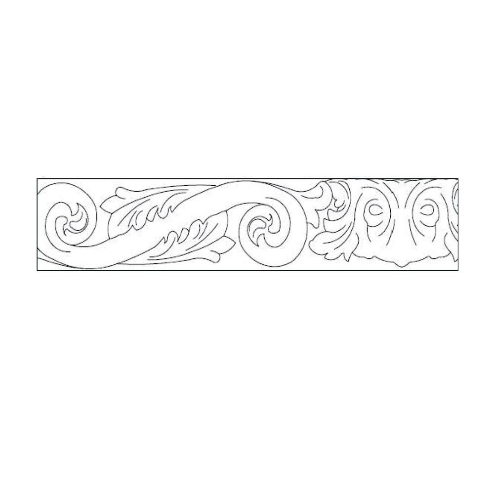 Подкарнизник 6/8 гнутый, R-235, орнамент 2, массив абаши. id=5671
