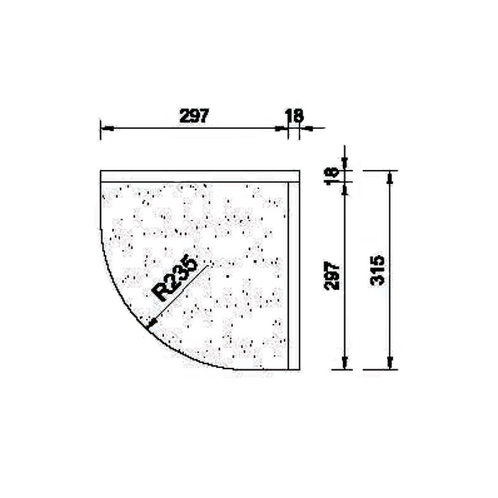 Подкарнизник 6/8 гнутый, R-235, орнамент 2, массив абаши. id=5670