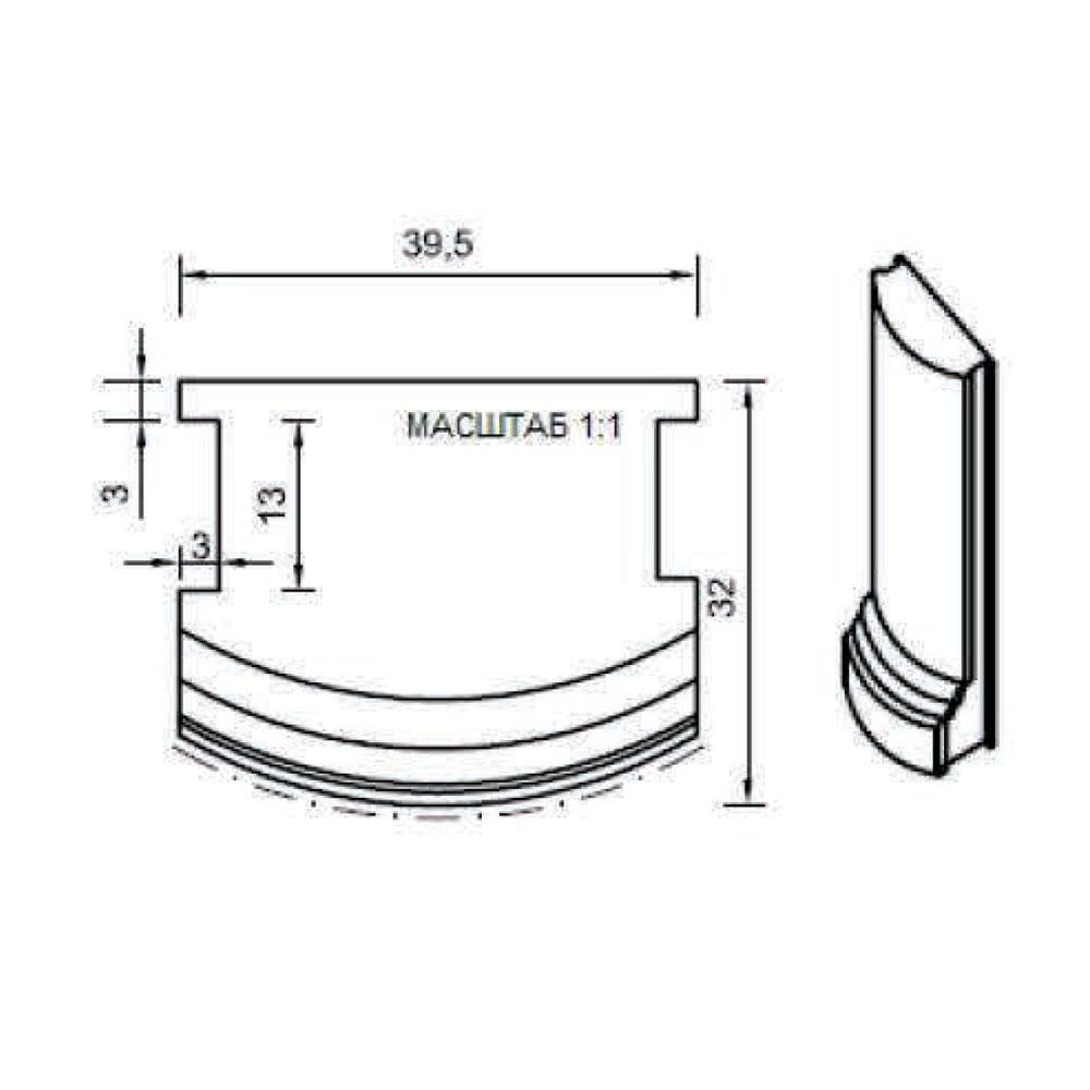Стыковочный элемент цоколя 122, прямой. id=13654