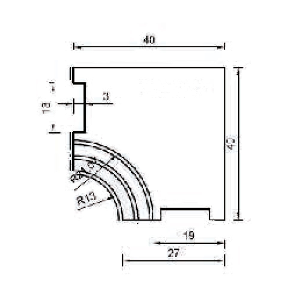 Соединительный элемент цоколя, внутр. 90 гр . id=13660