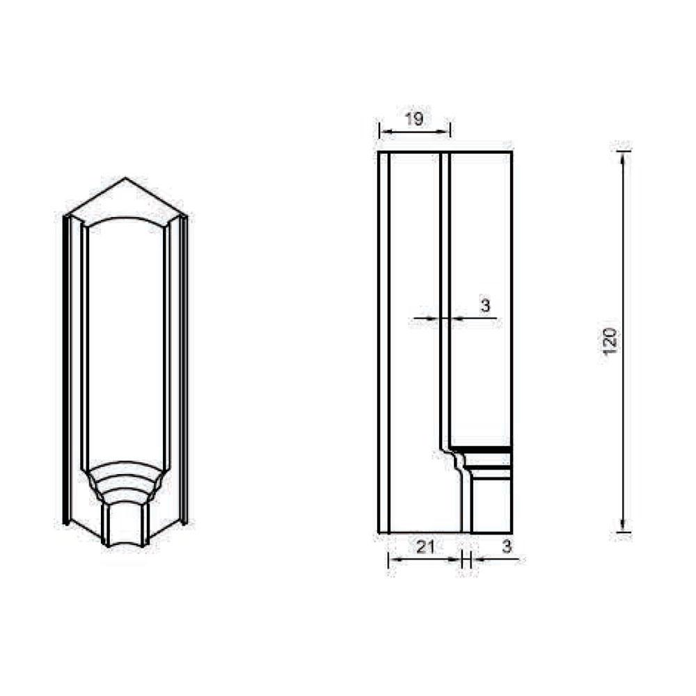 Соединительный элемент цоколя, внутр. 90 гр . id=13661
