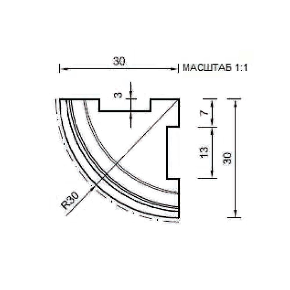 Угловой стыковочный элемент цоколя 122, внешний 90 гр. id=13657