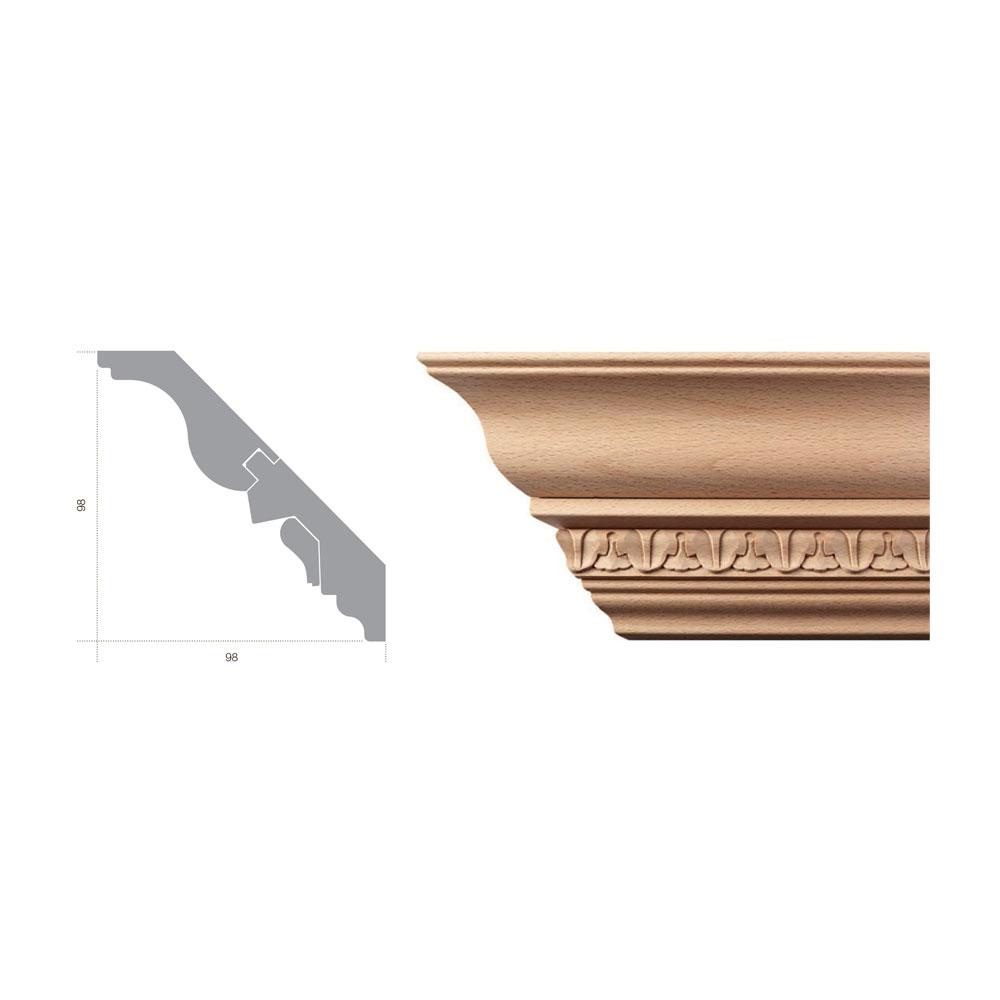 Карниз кессонный 5004/MD/BC. Массив бука.