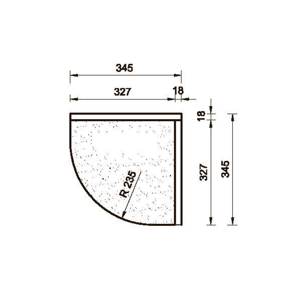 Подкарнизник  6/8 гнутый, R-235,  орнамент 1., массив абаши. id=13665