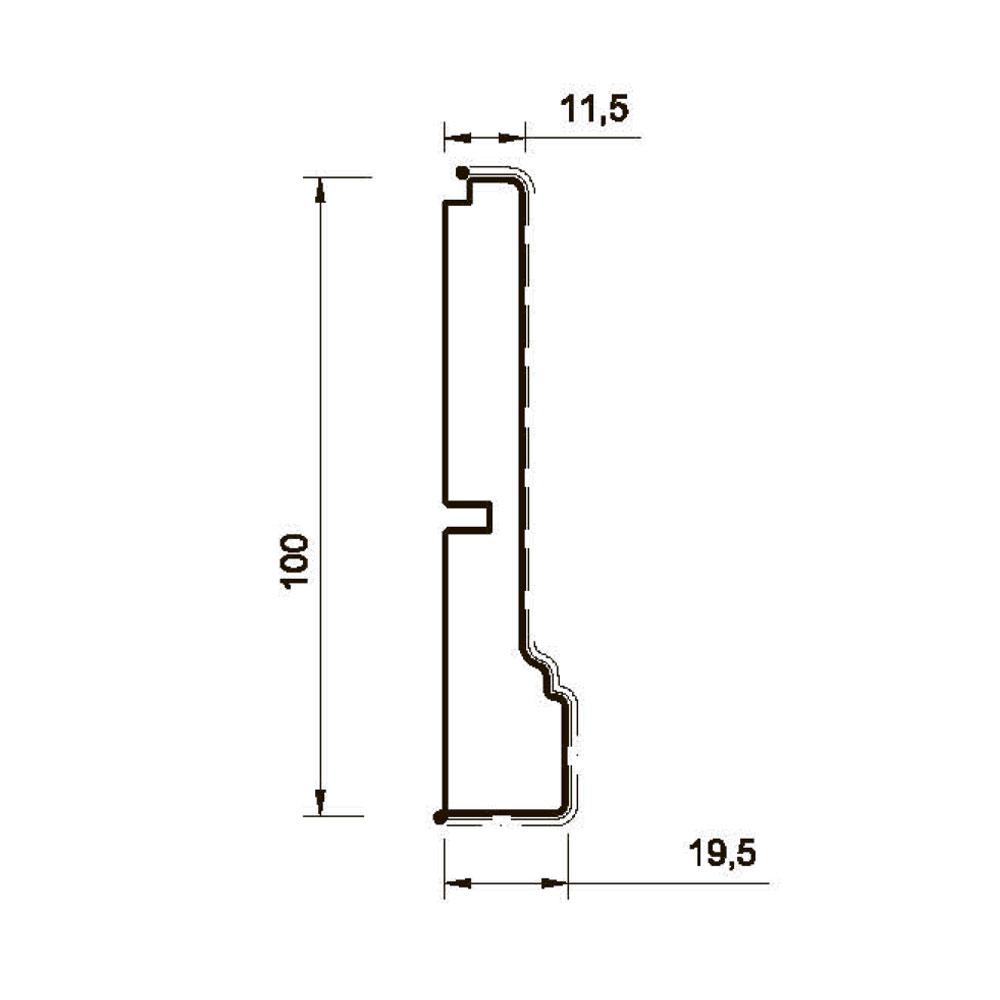 Цоколь MS-4 гнутый id=7995