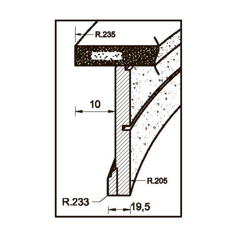 Цоколь MS-4 гнутый id=7996