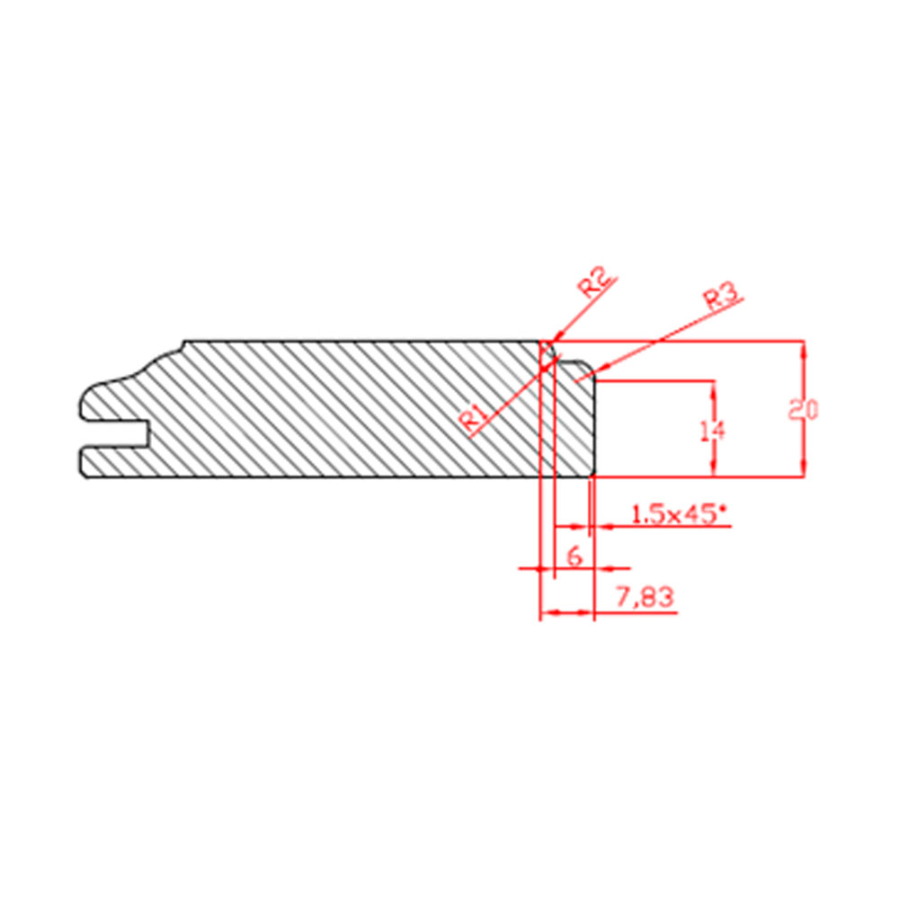 Нижняя часть для пилястры шириной 197 мм Маргарет 1134х197 id=10232