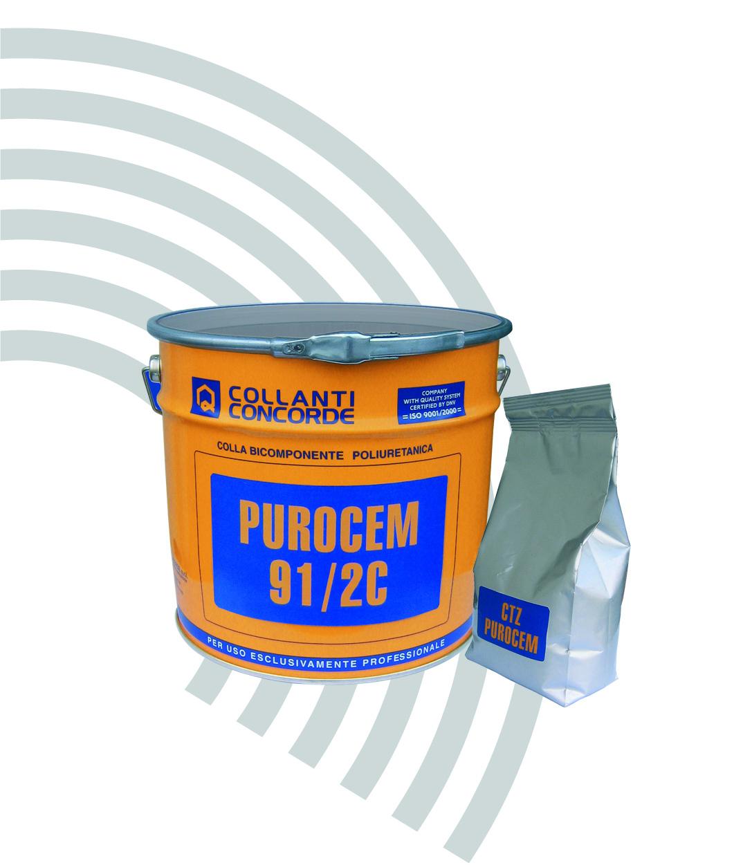 Клей для укладки напольных покрытий PUROCEM 91/2C