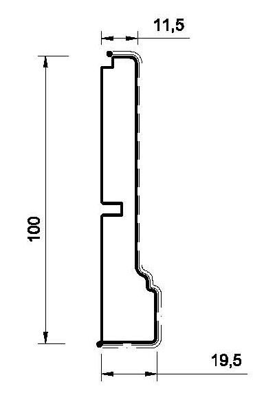 Цоколь MS-4 прямой. 100 мм. Мдф в шпоне Тюлипье. id=14369