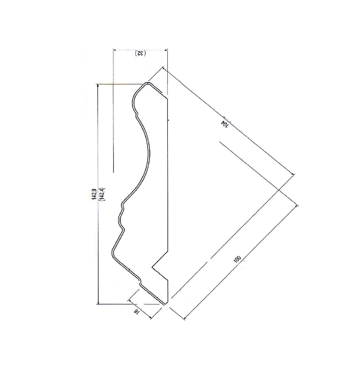 Карниз Леонардо верхний, прямой. МДФ в шпоне. id=15139