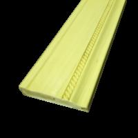 6. Фасадный профиль с фиг. накаткой (90)60х24х3660. МДФ в шпоне ясеня. 1.