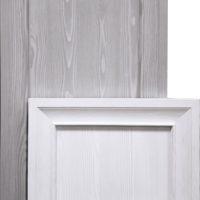 Фасадная вставка 23100. 23102 LL . Мдф в финишном покрытие в цвет Ясень молочный, серый.