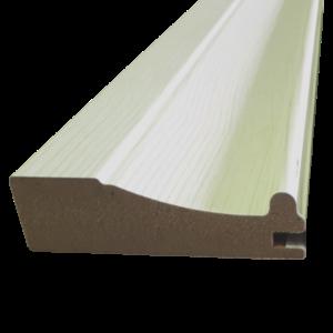 Фасадный профиль LL . Мдф в финишном покрытие в цвет Ясень молочный.