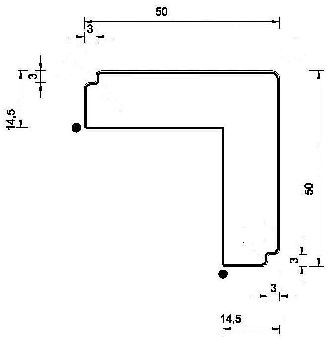 Карниз МОДЕРН нижний, прямой. МДФ в грунт-покрытие. id=15293