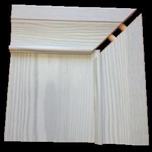 LL фасадный профиль молочно серый в финишном покрытие ясеня