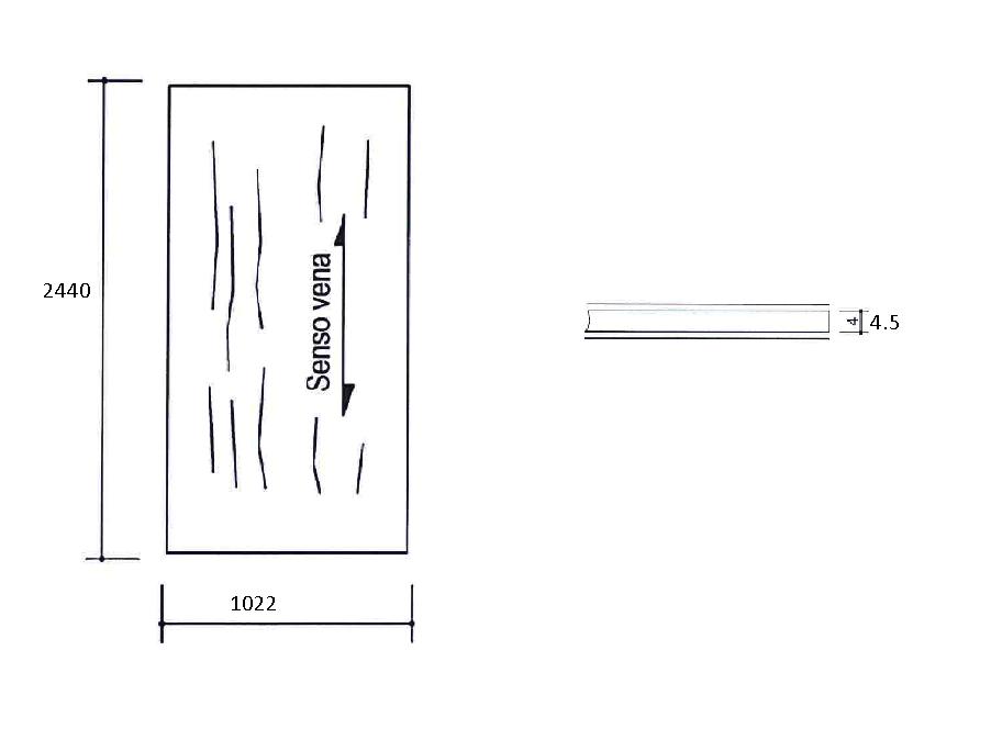 Филенка плоская для фасадного LL профиля. id=15514